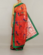 Online Embroidery Tussar Silk Sarees_44