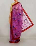 Embroidery tussar silks