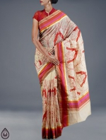 Online Embroidery Tussar Silk Sarees_47