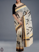Online Embroidery Tussar Silk Sarees_49