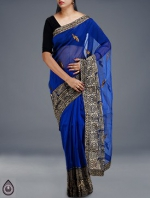 Online Embroidery Tussar Silk Sarees_50