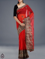 Online Embroidery Tussar Silk Sarees_51