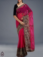 Online Embroidery Tussar Silk Sarees_52