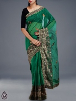 Online Embroidery Tussar Silk Sarees_53