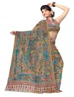 Online Kalamkari Tussar Silk Sarees_11