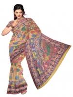 Online Kalamkari Tussar Silk Sarees_12