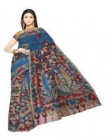 Online Kalamkari Tussar Silk Sarees_17