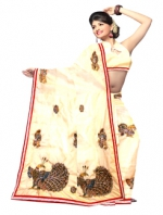 Online Kalamkari Tussar Silk Sarees_19