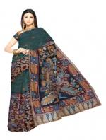 Online Kalamkari Tussar silk sarees_5