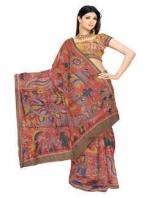 Online Kalamkari Tussar Silk Sarees_6
