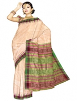Online Khadi Tussar Silk Sarees_10
