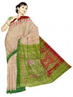 Online Khadi Tussar Silk Sarees_12
