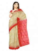 Online Khadi Tussar Silk Sarees_17