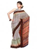 Online Khadi Tussar Silk Sarees_7