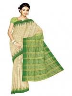 Online Printed Tussar Silk Sarees_12