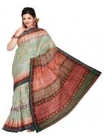Online Printed Tussar Silk Sarees_1