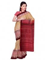 Online Printed Tussar Silk Sarees_2