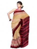 Online Printed Tussar Silk Sarees_3