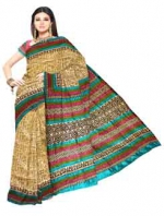 Online Printed Tussar Silk Sarees_9