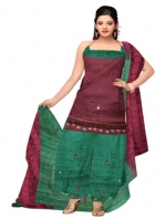 Online Tussar Silk Salwar Kameez_31