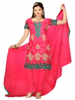 Online Tussar silk salwar kameez_1