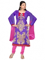 Online Tussar silk salwar kameez_4