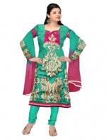 Online Tussar silk salwar kameez_5