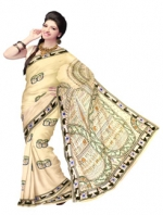 Online Warli Paint Tussar Silk Sarees_12