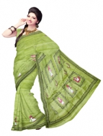 Online Warli Paint Tussar Silk sarees_15