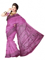 Online Warli Paint Tussar Silk sarees_19