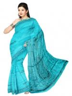 Online Warli Paint Tussar Silk sarees_20