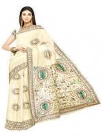 Online Warli Paint Tussar Silk Sarees_4